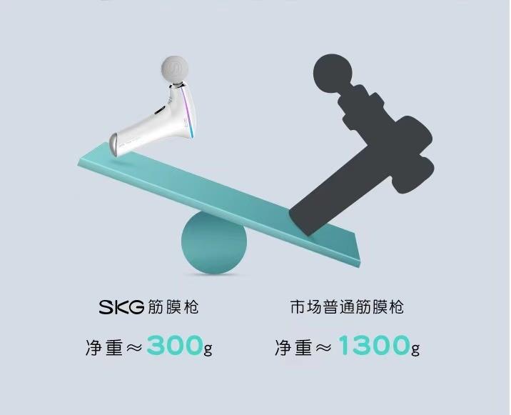 SKG旗下F5热敷按摩筋膜枪 实现按摩和热敷双重功能