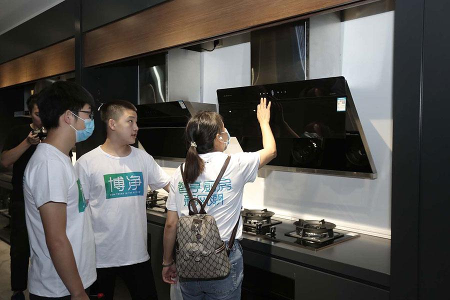 引领厨房智享新风潮,博净让新品标配智能大屏